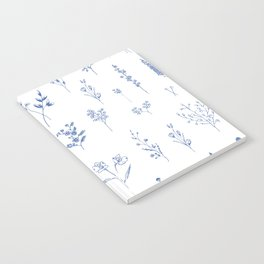 Wildflowers in blue Notebook