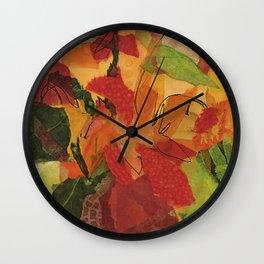Wild Sunflowers Wall Clock