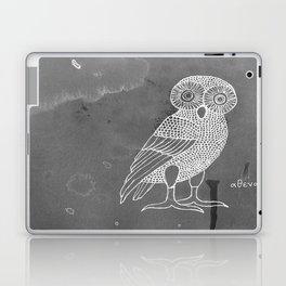 ATHENA'S OWL IN GREY BACKGROUND  Laptop & iPad Skin