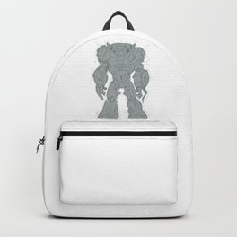 Giant Mech Robot Drawing Backpack
