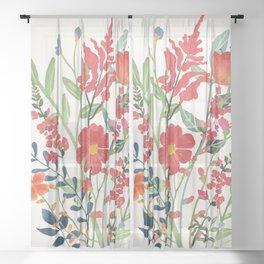 Beautiful Flowers Sheer Curtain