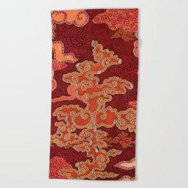 Crimson Clouds Beach Towel