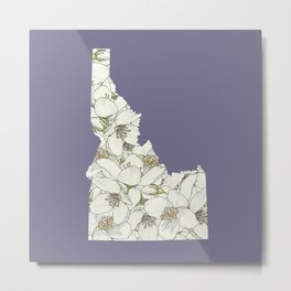 Idaho in Flowers Metal Print
