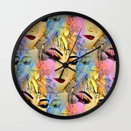 Sensual Female Portrait  Watercolor Wall Clock