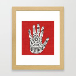 Hand Mandala Framed Art Print