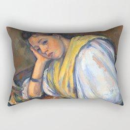 Young Italian Girl at Table Rectangular Pillow