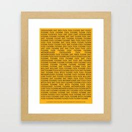 The Curses of Wall Street Framed Art Print