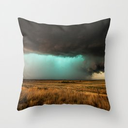 Jewel of the Plains - Storm in Texas Throw Pillow