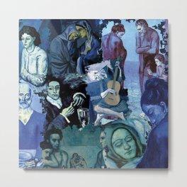 Blue Picasso Metal Print
