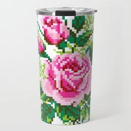 Pixel Rose Travel Mug