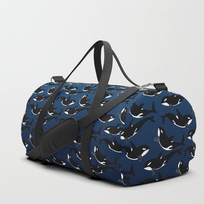 Orca Whale - Dark Blue Spinel Duffle Bag