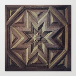 Woodcarved star Canvas Print