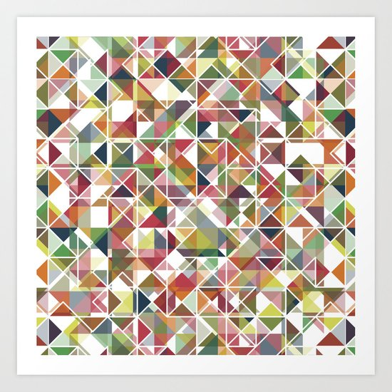 Chromatic Grid Art Print
