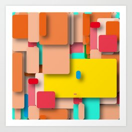 rounded rectangles Art Print