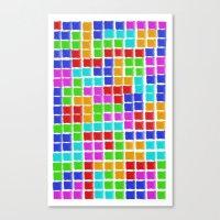tetris Canvas Prints featuring Tetris by MarioGuti