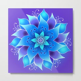 Starlight Bloom Metal Print