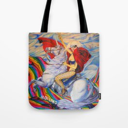 Fame Counquering the Mountain of Fame  Tote Bag
