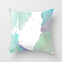 Purple Rainbow Throw Pillow