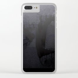 'Dark Days' - Digital Grunge Abstract Clear iPhone Case