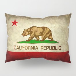 California Republic Retro Flag Pillow Sham