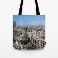 madrid Tote Bags featuring Madrid Espana by Eduardo Doreni