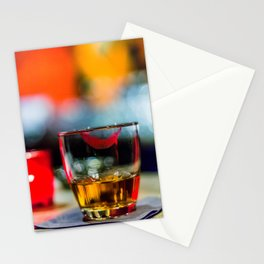 Lipstick Whiskey Neat Stationery Cards