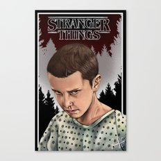 Eleven Stranger Things Canvas Print