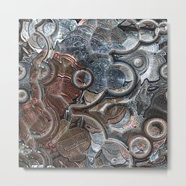 Abstract Coins Metal Print