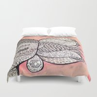 zen Duvet Covers featuring Zen by Hallie McIntyre
