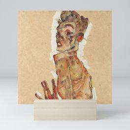 "Egon Schiele ""Self-Portrait with Splayed Fingers"" Mini Art Print"