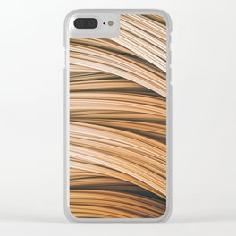 Beige Strands. Abstract Design Clear iPhone Case