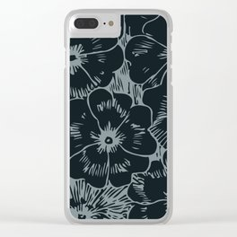 Dark Fall Floral Clear iPhone Case