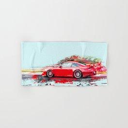 The Red Porsche Hand & Bath Towel