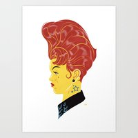 Head Cases, Wendy Art Print