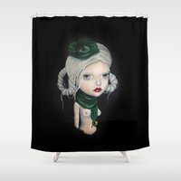 orphan black Shower Curtains featuring The Orphan by Nataliette