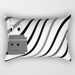 Zane the Zebra Rectangular Pillow