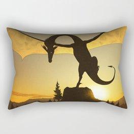 Dragon Sunset Rectangular Pillow
