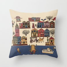 Urban Regeneration Throw Pillow