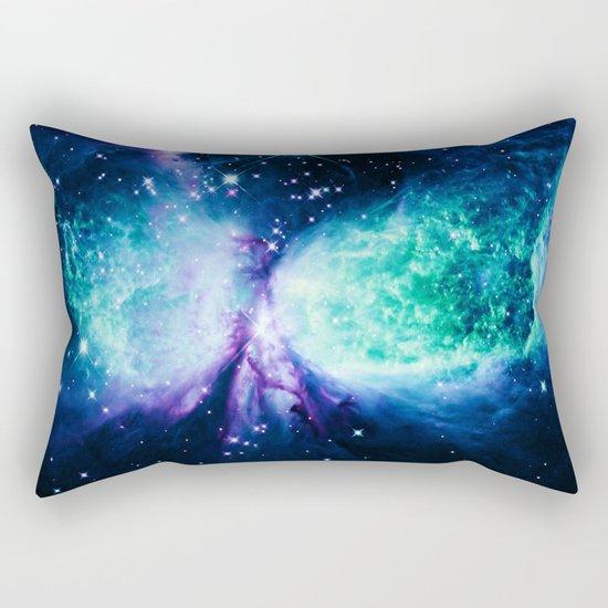 Space Galaxy : A Star is BORN Violet Mint Green Blue Rectangular Pillow