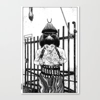 apollonia Canvas Prints featuring asc 589 - La maison close (No trespassing) by From Apollonia with Love