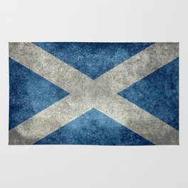 Scottish Flag - Vintage Retro Style Rug