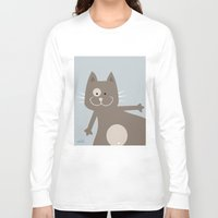 my mad fat diary Long Sleeve T-shirts featuring Fat Cat by nellifant