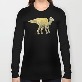 Yellow Hadrosaur Long Sleeve T-shirt