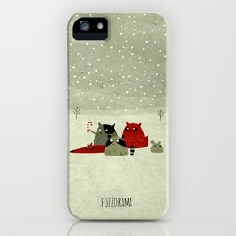 Guilty dudes in the snow iPhone Case