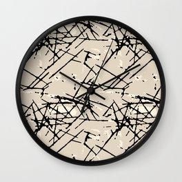 Black Pine Tree Needles Wall Clock