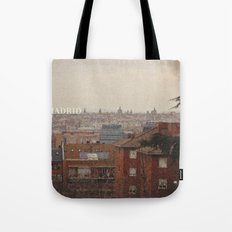Old postcard of modern Madrid Tote Bag