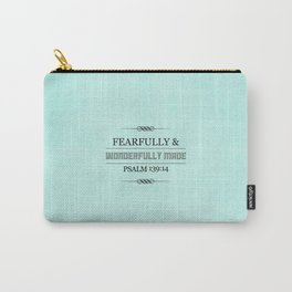 Wonderfully Made - Psalm 139:14 Carry-All Pouch