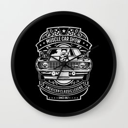 muscle car show american classic legend Wall Clock