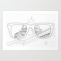Glasses View Art Print