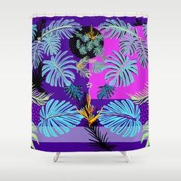 Tropical Boho Living Shower Curtain